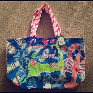 NWT Lilly Pulitzer Cape Cod Beach Tote